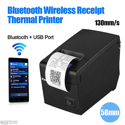 58mm USB Bluetooth Imprimante Thermique Dot Ticket pour Caisse POS ESC Android