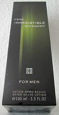Very Irresistible Givenchy for Men 100 ml After Shave Lotion NEU OVP in Folie