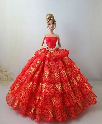 Fashion Royalty Princess Red multilevel Dress Gown Ballgown For 11.5in.Doll