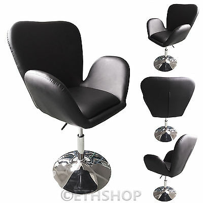 Black Faux Leather Adjustable Beauty Style Salon Hairdresser Chair Barber Chair