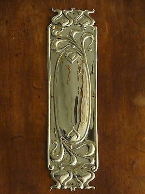 10 Finger Plates Brass Art Nouveau Door Push Fingerplate