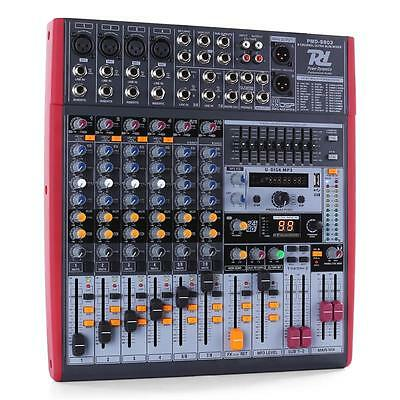Power Dynamics Pdm-S803 8-Channel Mixer Dsp Usb Mp3 Aux Eq Fx