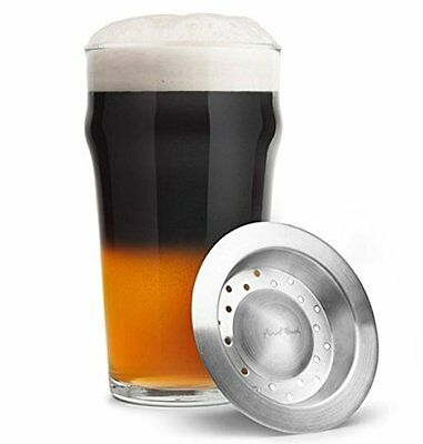 Final Touch BEER LAYERING TOOL and GLASS SET Drink Mixing Ale Stout BLACK & TAN