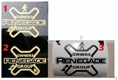 JEEP RENEGADE OWNERS GROUP JROG DECAL STICKER X TYPE Vinyl Accessory