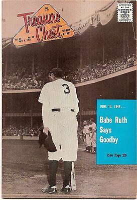 Silver Age 1965 Treasure Chest Of Fun & Fact #16 Babe Ruth Photo Cover & Story