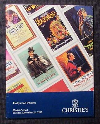 1990 Christie's East Hollywood POSTERS  Auction Catalog SC NM- Charlie Chaplin