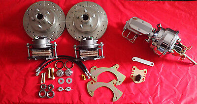 1957-1964  FORD FULLSIZE GALAXIE  FRONT DISC BRAKE CONVERSION chrome booster