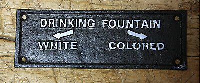 Cast Iron COLORED DRINKING FOUNTAIN Black AMERICANA Court House PLAQUE