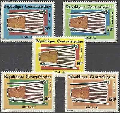 Timbres Arts Centrafrique 519/23 ** lot 11135