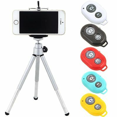 Tripod Holder + Bluetooth Selfie Remote Shutter For iPhone 6S 6 5S Samsung