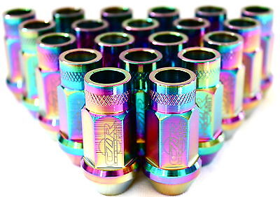 20 Neo Chrome Extended Tuner Lug Nuts Lugs For Wheels/rims M12X1.5 Honda/acura