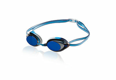Speedo Vanquisher 2.0 Mirrored Anti-Fog Swimming Competition Goggle Pacific Blue