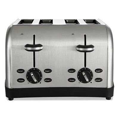 """Extra Wide Slot Toaster, 4-Slice, 12 3/4 X 13 X 8 1/2, Stainless Steel"""
