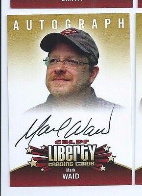 Cryptozoic CBLDF Liberty autograph Mark Waid