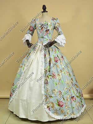 Renaissance Colonial Princess Prom Dress Gown Reenactment Theater Costume 146