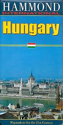 Map of Hungary, by Hammond Maps