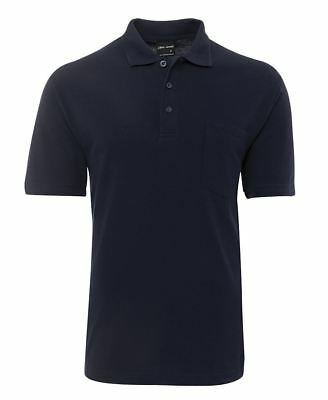 Mens Pocket Polo Shirt Polyester Cotton JB's 210P 5 Colours Casual Top JBswear