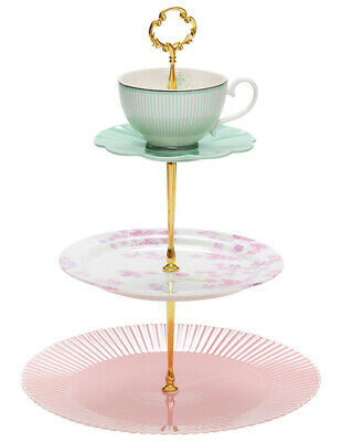NEW Salt&Pepper Eclectic 3 Tier Cake Stand