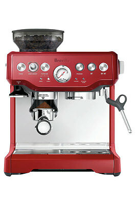 NEW BES870CRN Barista Express Espresso Machine: Cranberry Red/Stainless Steel