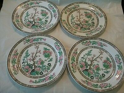 """Edwin Knowles china """"Indian tree"""" set of four bread plates"""