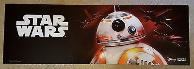 Star Wars Promotional Sign- Double Sided BB-8 Chewbacca (Rare) The Force Awakens