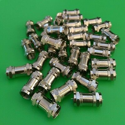 (100 PCS) F71 Male to Male Splice Connector - USA Seller