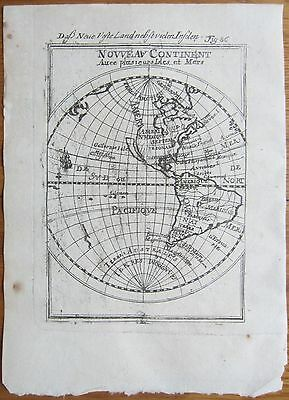 MALLET: Map of North and South America Insular California - 1718