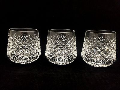 Set of 12 Waterford Crystal ''Alana'' Roly Poly Whiskey Glasses