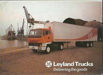 Leyland T45 Truck Range Introductory Sales Brochure/poster @1980