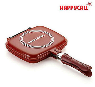 New Happycall Double Sided Standard Red Pan for Cooking Cuty Pan