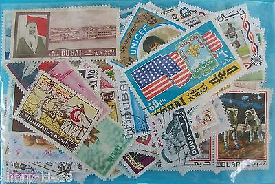 Dubai Collection Of 115 Different Used Stamps