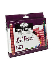 Royal Langnickel Large Artist Oil Pastels pack 24 Assorted Colours 70mm x 10mm