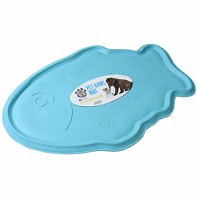 Me & My Pets Rubber Fish Nonslip Dog/cat Bowl Mat Tray Water/food Puppy/kitten