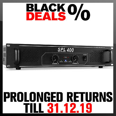 "400W Power Amplifier 19"" Rack Mount Pa Dj Equipment Party Disco Audio Amp Hifi"