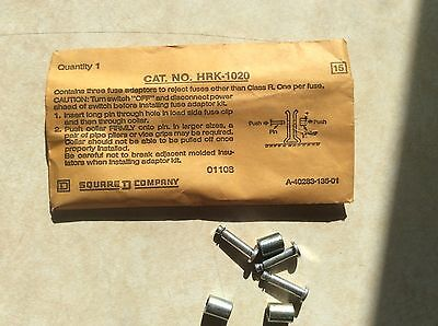 Square D Class R Fuse Kit Hrk-1020 Contains Three Fuse Adapters