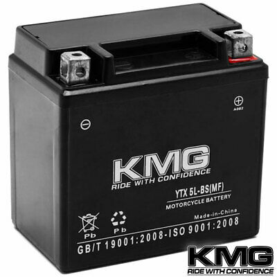 12 Volt Sealed Maintenace Free Performance Powersport Battery by KMG - YTX5L-BS