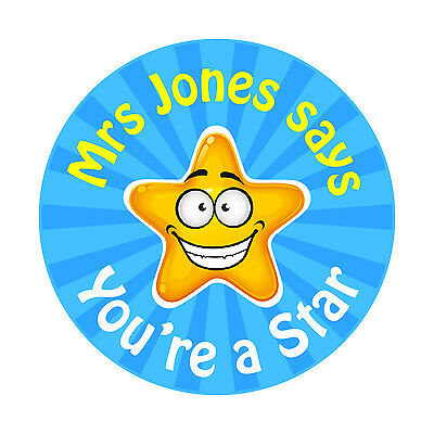 80 Personalised Teacher Reward Stickers for Pupils You're a Star
