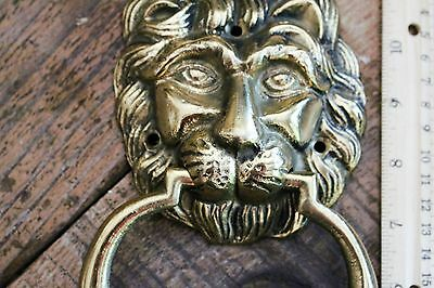 Brass Door Knocker Antique Solid Brass Lion Head Door Knocker Heavy Brass