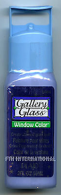 Plaid Gallery Glass Paint 17494 - 2 oz. Shimmer Sapphire ~ Stained Glass Look