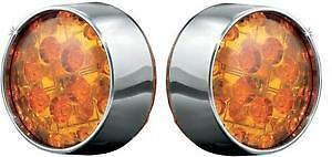 Harley FXDF 08-13LED Bullet Turn Signal Conversion Kit Front Amber by Kuryakyn