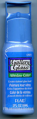 Plaid Gallery Glass Paint 17073 - 2 oz. Blue Bird ~ Create a Stained Glass Look