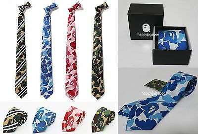 A BATHING APE Men's Mr BATHING APE ABC CAMO TIE 4 Types From Japan New