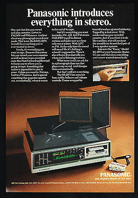 1971 Panasonic Model RS 257S Everything Stereo Photo Vintage Print Ad