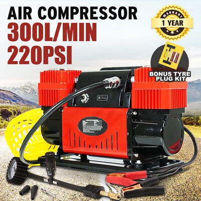 Car Air Compressor 12v 4x4 Tyre Deflator 4wd Portable Inflator 150PSI 85L/min