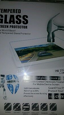 Genuine Tempered Glass Film Screen Protector Guard For Apple iPad 2,3,4