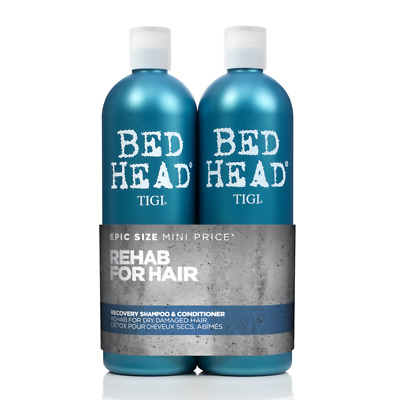 TIGI Bed Head Recovery 750ml Duo Pack Shampoo & Conditioner Hair Haircare