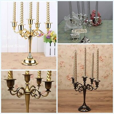 5Arm  Candelabra Taper Candle Holders Chandeliers Wedding Table Centerpieces