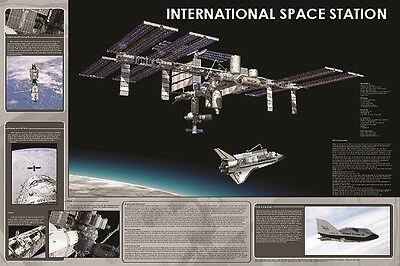 International Space Station Poster (61X91Cm) Educational Chart New Wall Art
