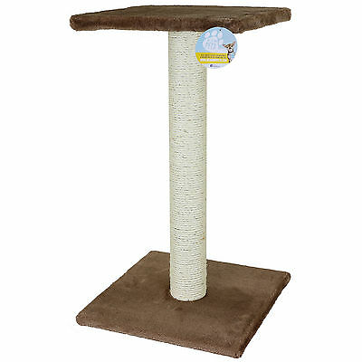 Me & My Pet Large Brown Cat/kitten Sisal Scratching/scratcher Post/tree/platform