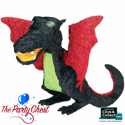 BLACK DRAGON Animal Character Pinata Party Game Decoration 56cm Tall P12973